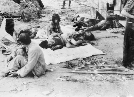 Hiroshima Street Scene with injured Civilians. Credit: Australian War Memorial, CANBERRA ACT 2601